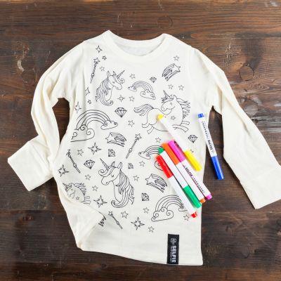 Regali Unicorno - T-Shirt Unicorno da Colorare
