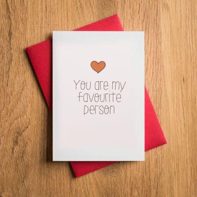 Regali romantici - Biglietto di San Valentino - Tu Sei la mia Persona Preferita