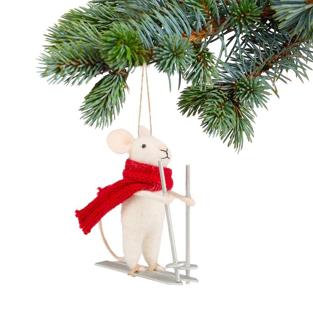 palla di Natale topolino bianco