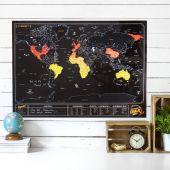 Mappa del Mondo da Grattare – Ardesia