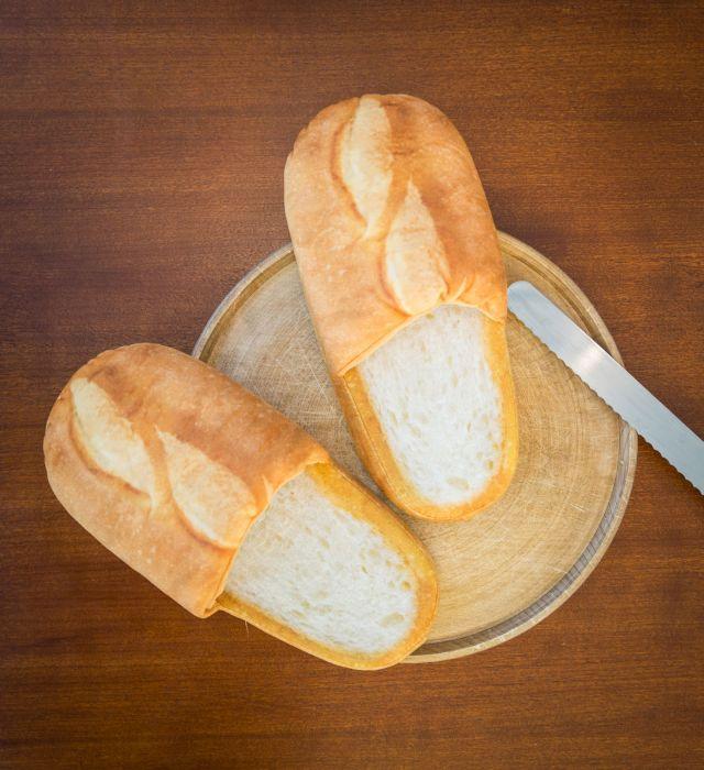 Pantofole al pane bianco