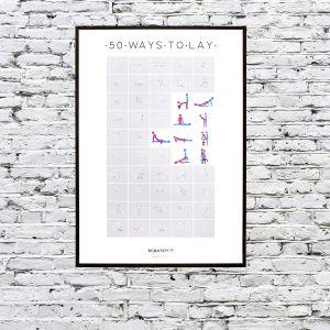 Poster da grattare con 50 posizioni