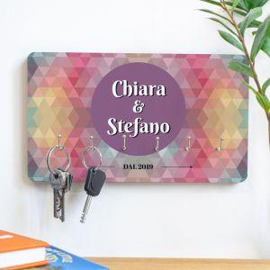 Portachiavi personalizzabile con sfondo colorato