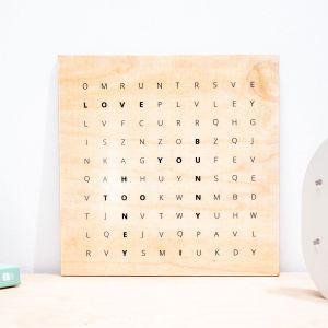 """Quadro in legno personalizzabile """"Cerca la parola"""""""