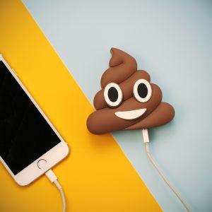 Caricabatterie per smartphone Emoji Poop