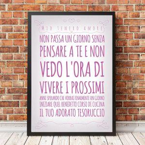 Poster Romantico Personalizzabile