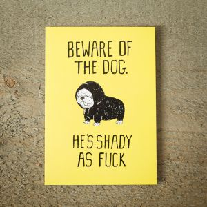 Biglietto D'Auguri Shady Dog
