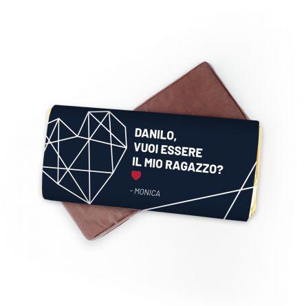 Cioccolato personalizzabile con testo