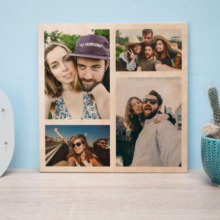 4 foto sul legno personalizzabili