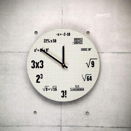 Orologio Formule Matematiche