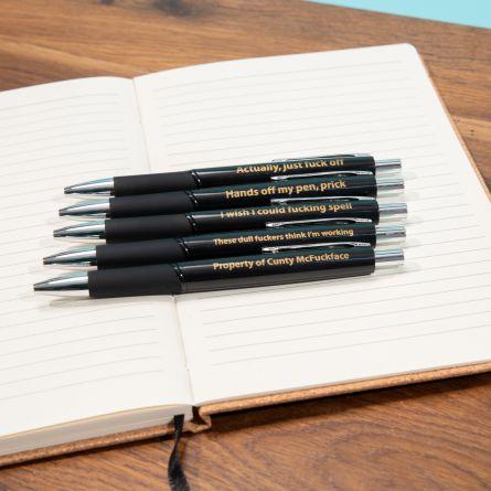 Set Penne Maleducate per l'Ufficio