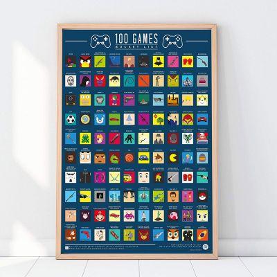Poster - Poster da Grattare - 100 Videogame