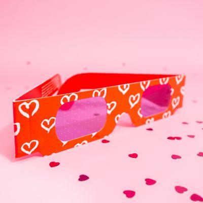 Gioco & Divertimento - Occhiali 3D con cuori