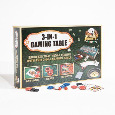 Giochi per Feste - Mini Tavolo da Gioco Las Vegas 3 in 1