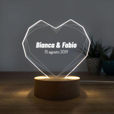Regali per l'Anniversario di Matrimonio - Lampada LED con Cuore