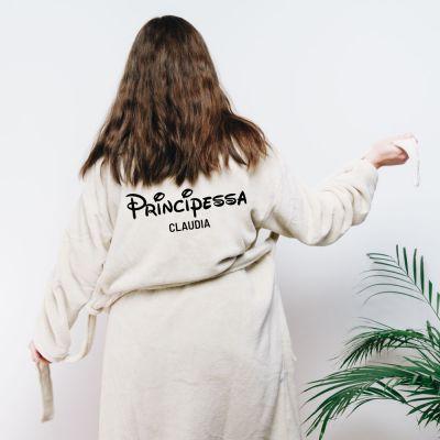 Regali compleanno per lei - Accappatoio Principessa Personalizzabile
