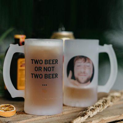 Regali di compleanno per i 20 anni - Boccale da Birra Personalizzabile con Foto e Testo