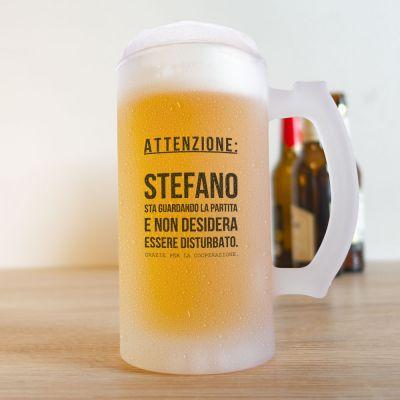 Tazze & Bicchieri - Boccale da Birra per Appassionati di Calcio