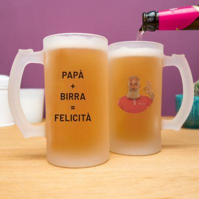 Regali di Natale - Boccale da birra personalizzabile con foto e testo