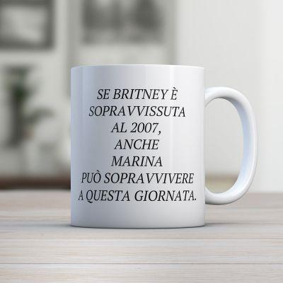 Tazze personalizzate - Tazza Britney Personalizzabile con Nome