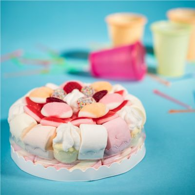 Dolce - Torta di Marshmallow e Gommose alla Frutta