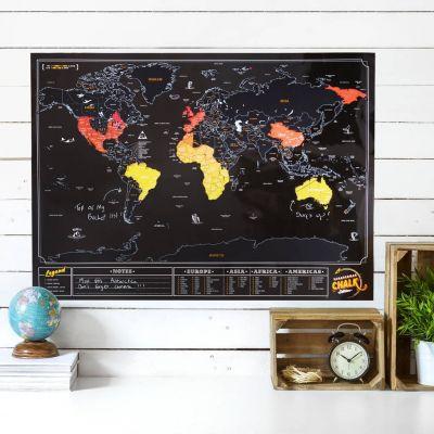 Regali di addio - Mappa del Mondo da Grattare – Ardesia