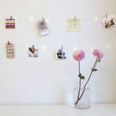 Regali per l'Anniversario di Matrimonio - Catena Led con Mini Mollette