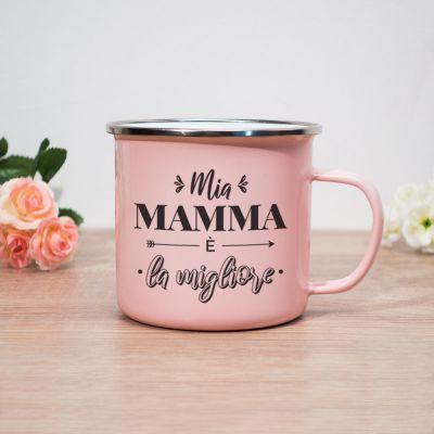 Tazza di Metallo Mia Mamma è la Migliore