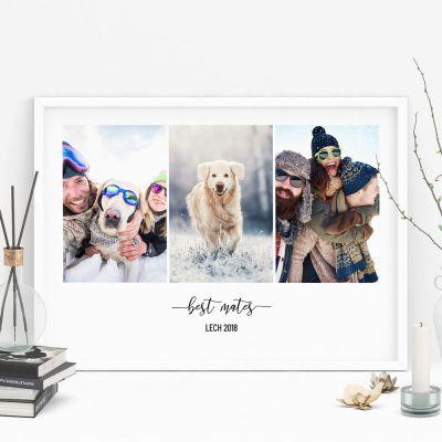 Regali di San Valentino per Lei - Poster con 3 Foto e Testo