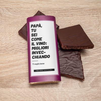 Regalo compleanno papà - Cioccolata al Vino Rosso Personalizzabile