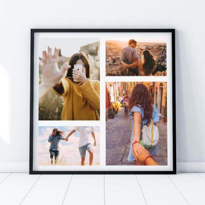 Regali romantici - Foto poster personalizzabile con 4 foto
