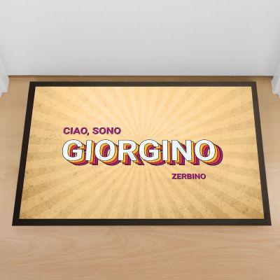 Zerbini personalizzati - Zerbino Personalizzabile Anni '80