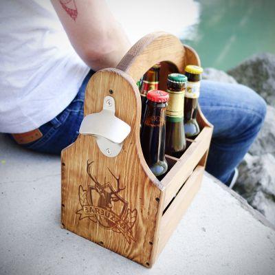 Porta Birre in legno Sixpack