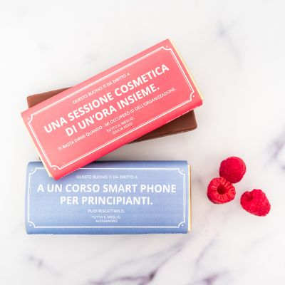 Cioccolati personalizzati - Coupon personalizzato con Cioccolata
