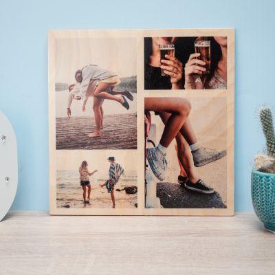 Regalo sorella - 4 foto sul legno personalizzabili