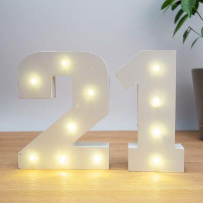 Regali per la Casa Nuova - Numeri In Legno Luminosi