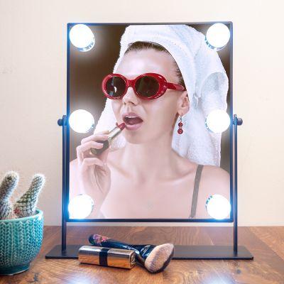 Bagno & Relax - Specchio Nero in stile Hollywood con LED