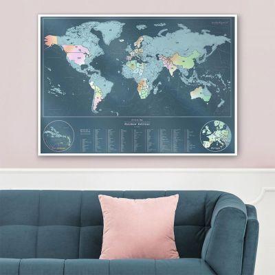 Regali primaverili - Cartina Geografica del Mondo Iridescente da Grattare
