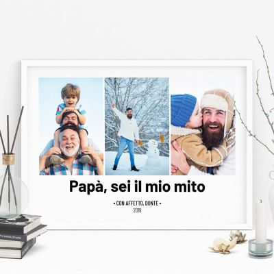 Poster - Poster con 3 Foto e Testo