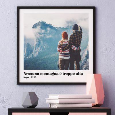 Regali di San Valentino per Lui - Poster con Foto e Testo