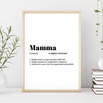 Regalo compleanno mamma - Poster Personalizzabile Definizione