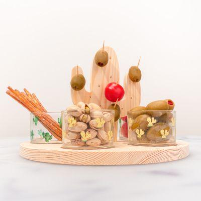 Cucina & Grill - Set Aperitivo Cactus con Bicchierini e Bastoncini