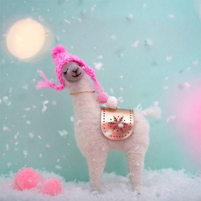 Decorazione - Fa La La Lama con Cappellino Rosa
