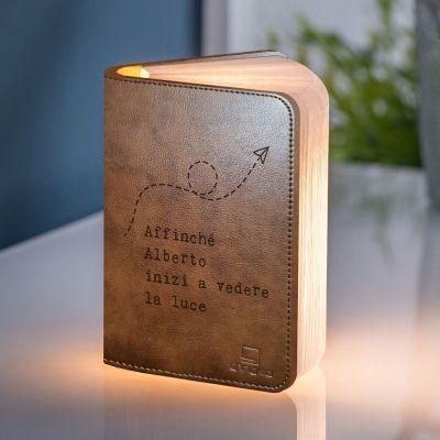Illuminazione - Lampada Libro Personalizzabile con Testo