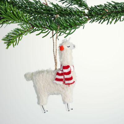 Decorazione - Palla di Natale Lama