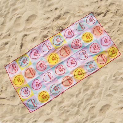Bagno & Relax - Asciugamano da Mare con Cuori
