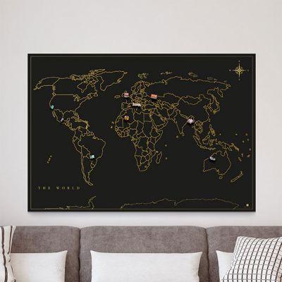 Decorazione - Mappa del Mondo per Magneti