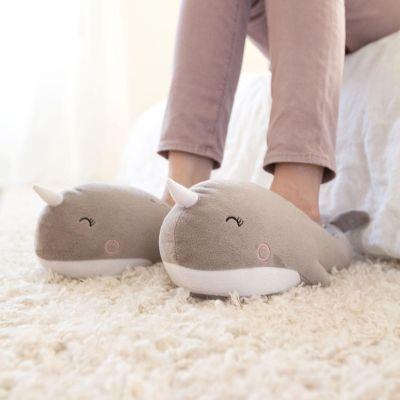 Regali per la Sorella - Pantofole Riscaldate Narvalo – USB