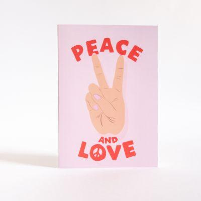 Biglietti di auguri - Biglietto d'Auguri Peace & Love