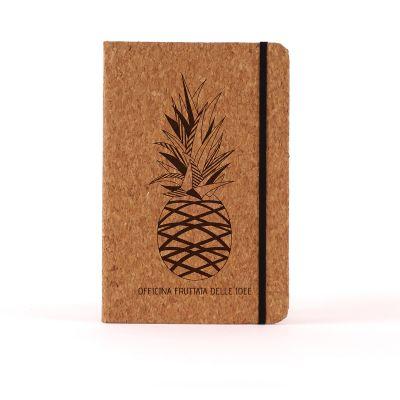 Taccuini esclusivi - Notebook Personalizzabile in sughero – Ananas